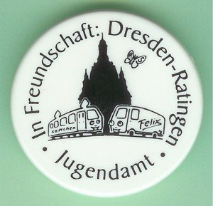 Button: In Freundschaft Dresden - Ratingen